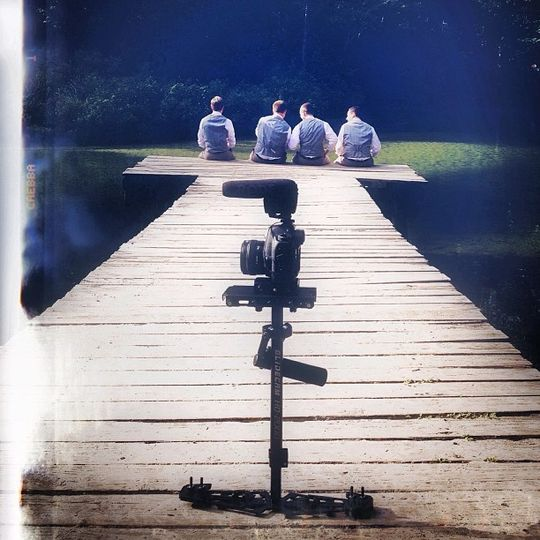 Filming groomsmen. They're always a blast!