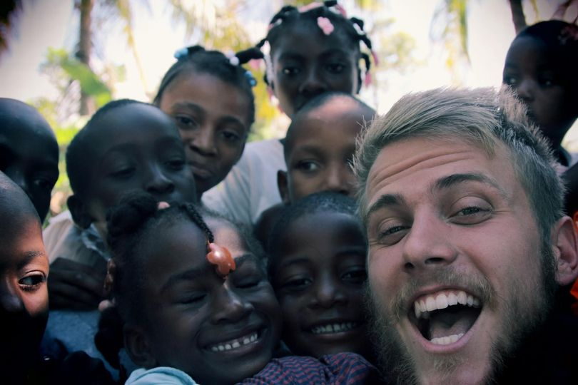 Filming in Haiti! I miss these kiddos.