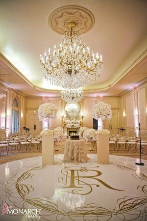 Wedding venue chandelier