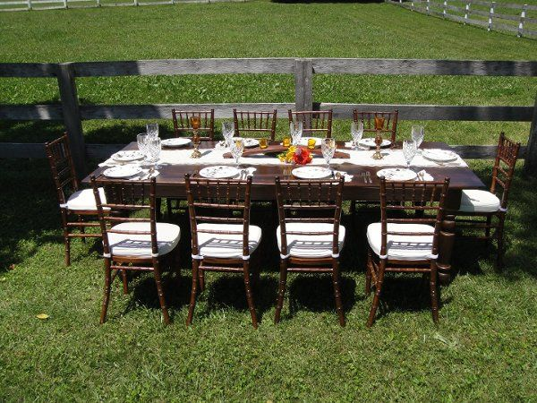 Our Beautiful 8' Farmhouse Table In A Lovely Setting!