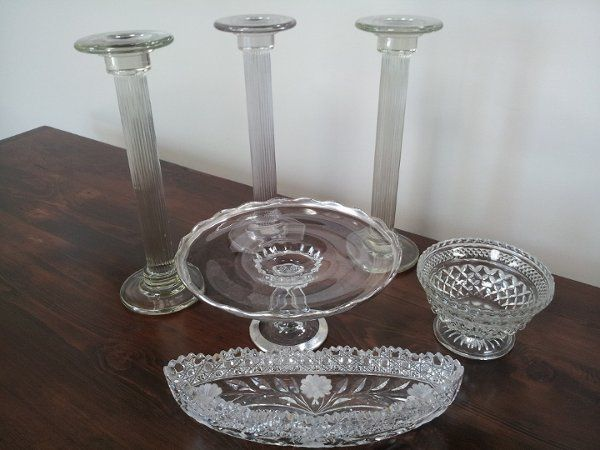 Some Of Our Beautiful Cut Glass Pieces