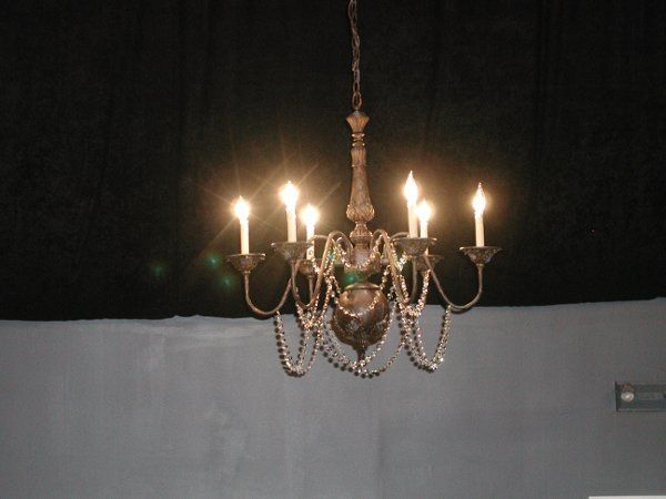 Beautiful Chandeliers - We have 12 Of These For Rent and They Have Plug-In Cords Perfect For Tents