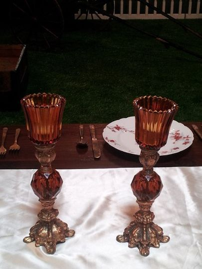 Amber candle holders!