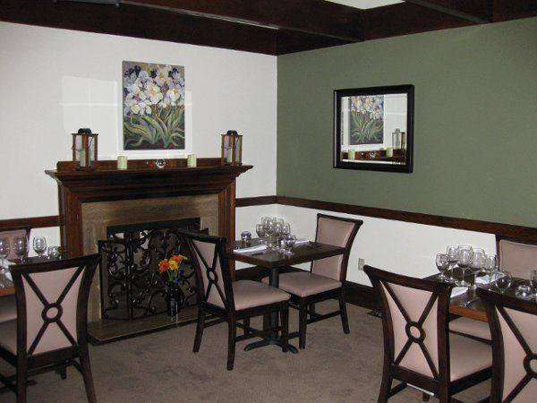 One of two main dining areas
