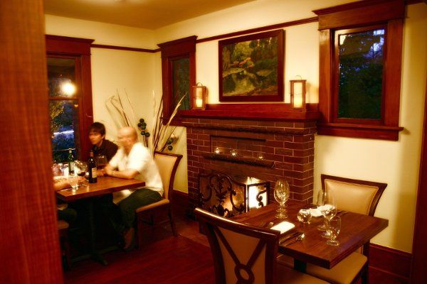 Enjoy fireplaces in both of our main dining rooms