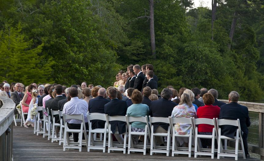 The Discovery Center bridge sets a unique setting for your wedding ceremony of up to 150 guests.