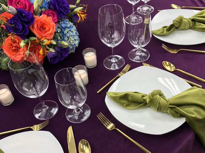 Tmx Velvet Eggplant Table 9b 51 535900 160132215370598 Fort Lauderdale, FL wedding rental