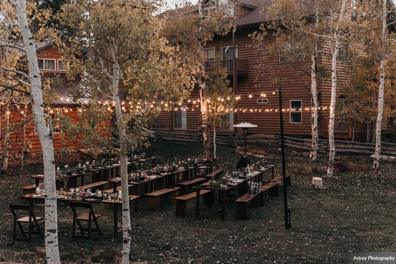 Fall wedding in the mountains