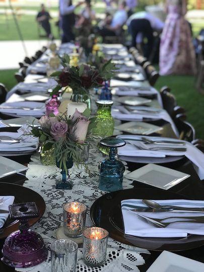 Nice table setting for dinner