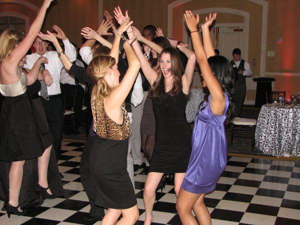 Having fun at the dance floor