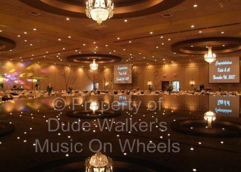 Elegant ballroom area