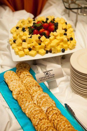 Fruits and crackers