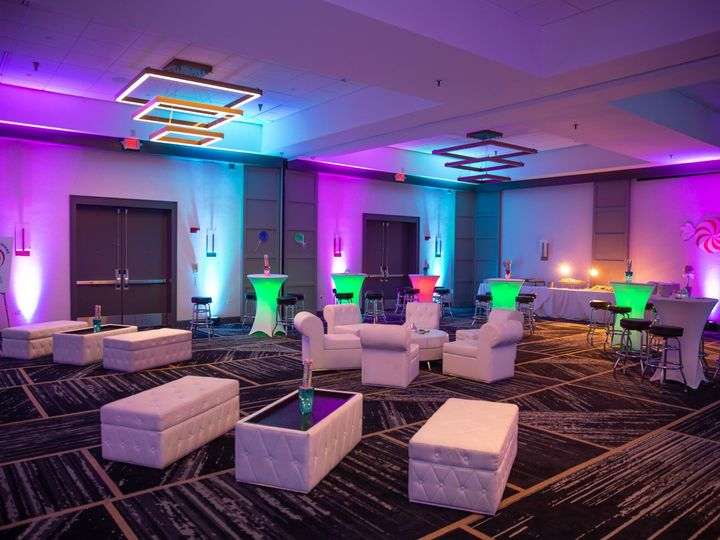 Tmx Candyland White Furniture Purple Lights 51 8900 1573662579 Gaithersburg, MD wedding venue