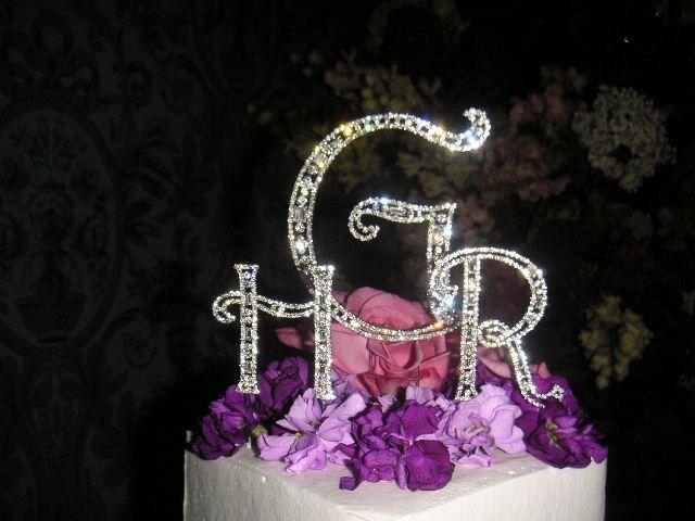 Bling Monogram cake topper