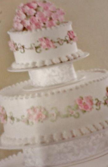 3 tiered Peony Cake