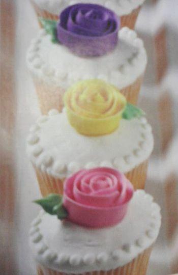 Wedding Roses Cupcakes