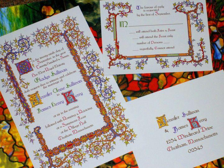 Tmx 1445469066286 15th Century Renaissance Invite And Reply 1 Harwich, MA wedding invitation