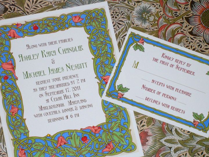 Tmx 1445527929420 Art Nouveau Tulips Invitation  Reply Card Harwich, MA wedding invitation