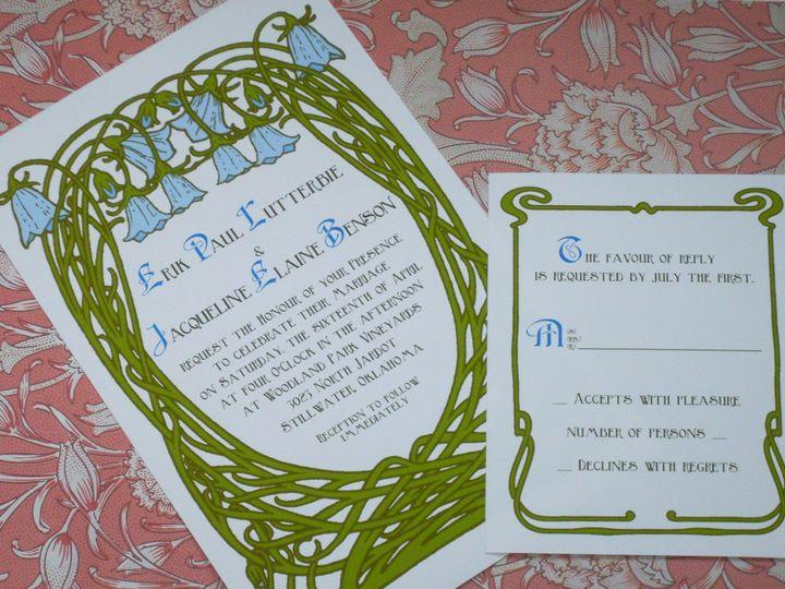 Tmx 1445528197182 Bluebell Invitation  Bluebell Response Harwich, MA wedding invitation