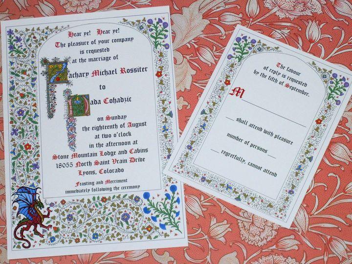 Tmx 1445528498864 Borgia Dragon Invitation And Reply Harwich, MA wedding invitation