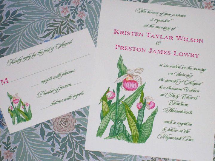 Tmx 1445530059743 Cape Cod Lady Slipper Invitation  Reply Harwich, MA wedding invitation