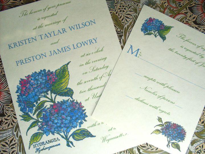 Tmx 1445530327736 Hydrangea Invite  Reply 3 Harwich, MA wedding invitation