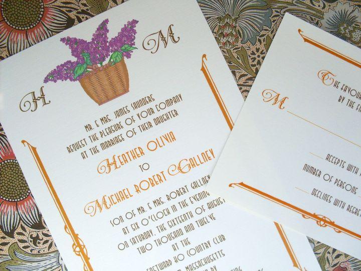 Tmx 1445530721560 Nantucket Basket Lilacs Invitation  Reply Harwich, MA wedding invitation