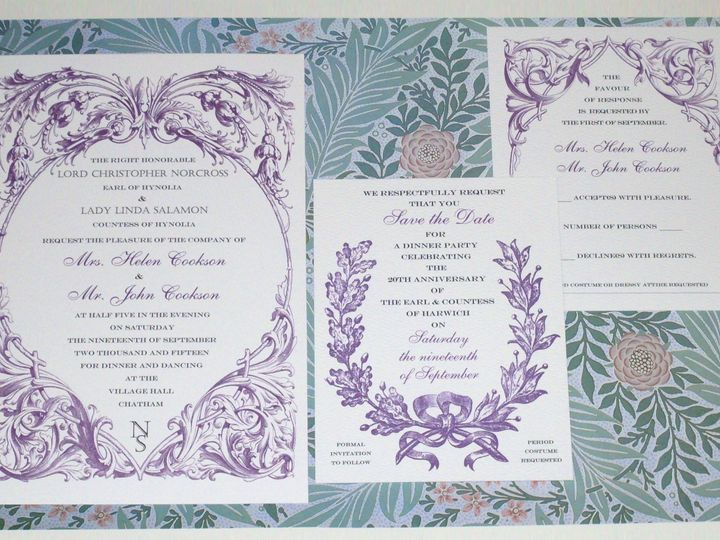 Tmx Downton Abbey Party Suite 2 51 120010 Harwich, MA wedding invitation