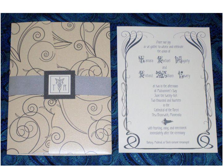 Tmx Lotr Elven Silver Pearl Invitation 51 120010 Harwich, MA wedding invitation