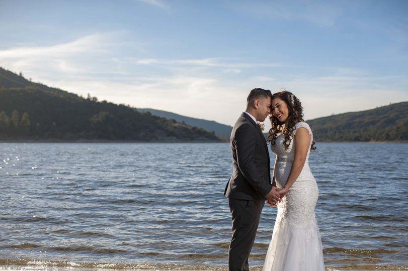 Carlos and daisy had a beautiful ceremony at lake hemet