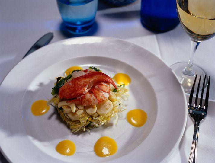 Lobster palm heart salad
