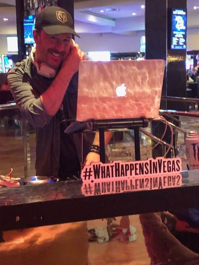 Djing on the Las Vegas Strip