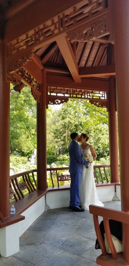 Couple in a gazebo