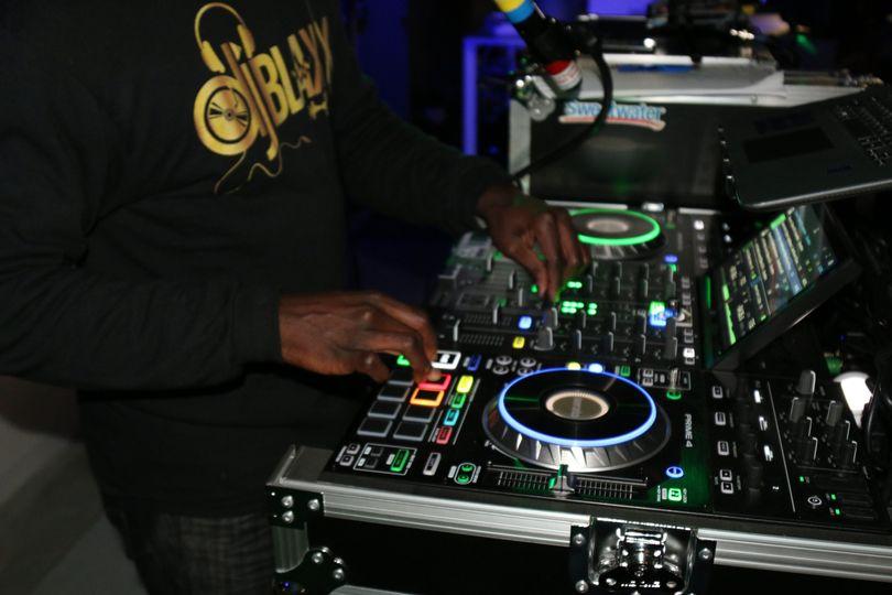 DJBlaxx at the controls
