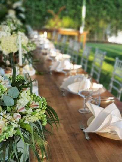 Beautifull table decor outdoor