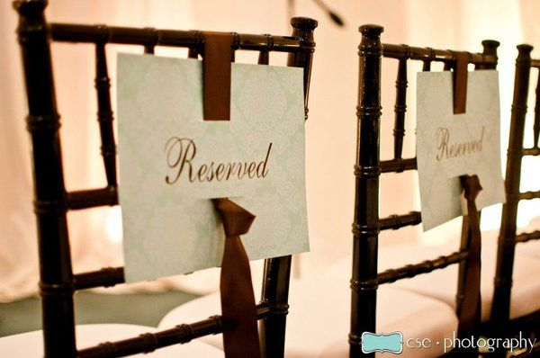 Reserved chairs