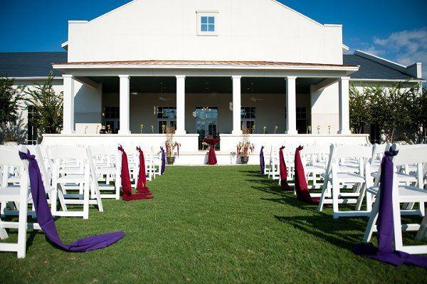 Wedding aisle and decor
