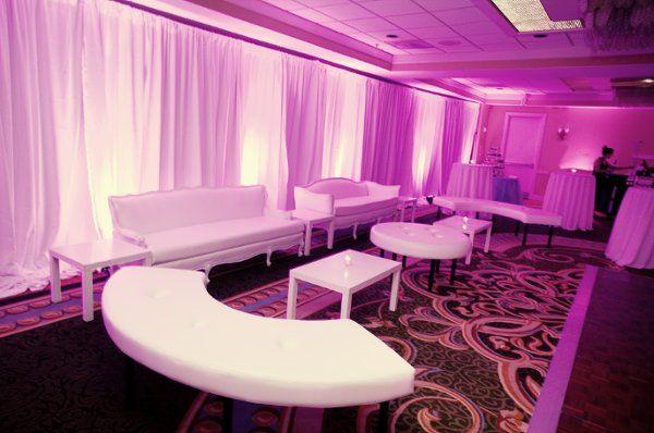 Pink lounge uplights