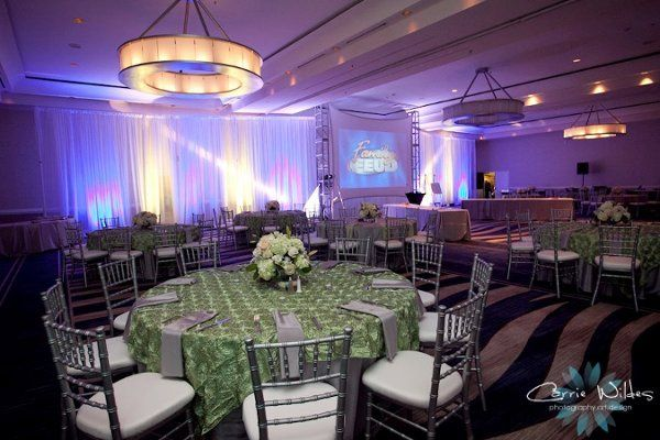 Reception table and green decor