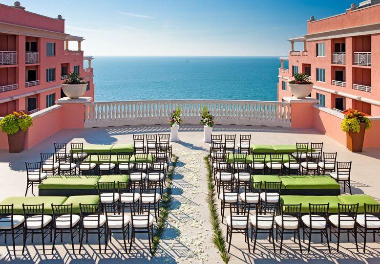 wedding ceremony sky terrace