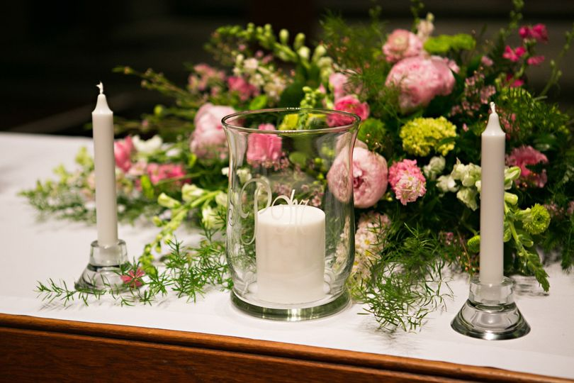 Candles and floral decor