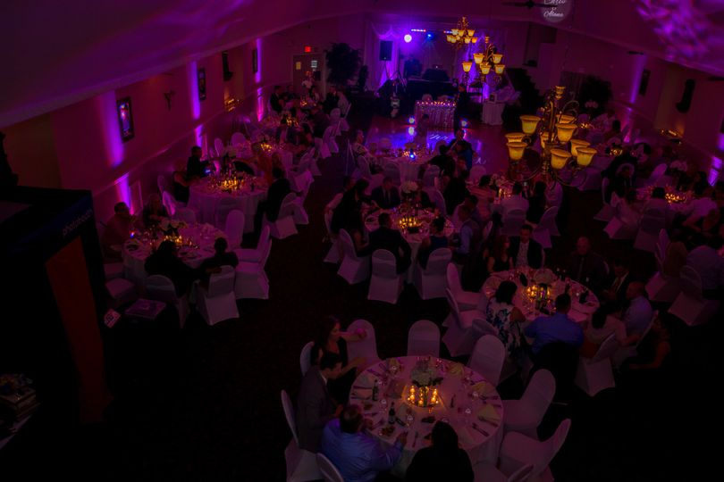 Reception hall lighting