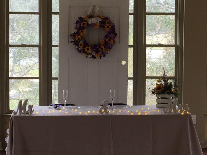 Lakeside Room- wedding reception set up