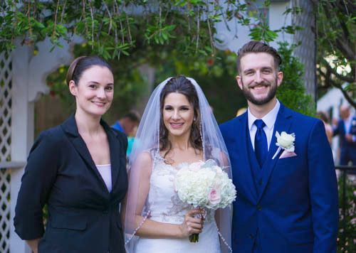 Officiant for Mason and Janna
