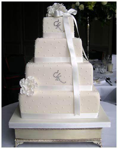 Tmx 1279835113483 CKmonogram4tier Bronx wedding cake