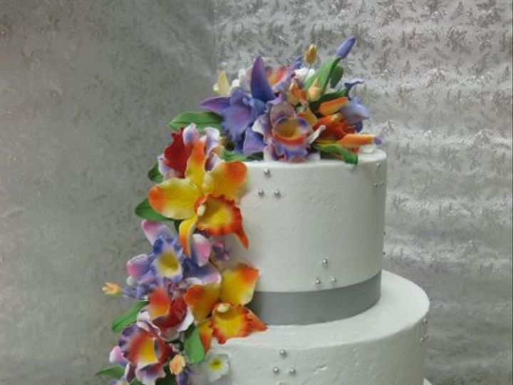 Tmx 1279835300014 Hawaiianflowerstier Bronx wedding cake