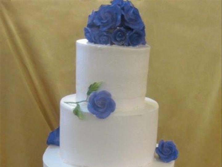 Tmx 1284423863736 Blueroses Bronx wedding cake
