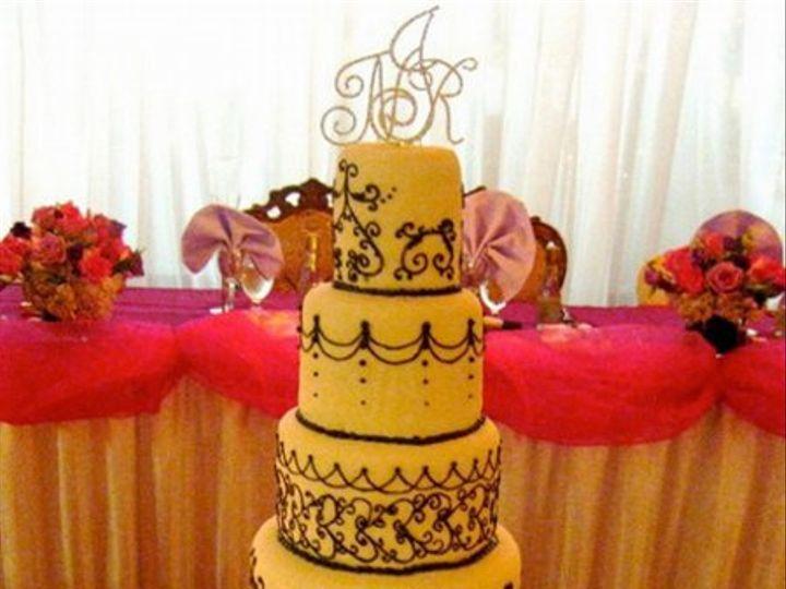 Tmx 1284423910251 6tierorangescrolls2 Bronx wedding cake