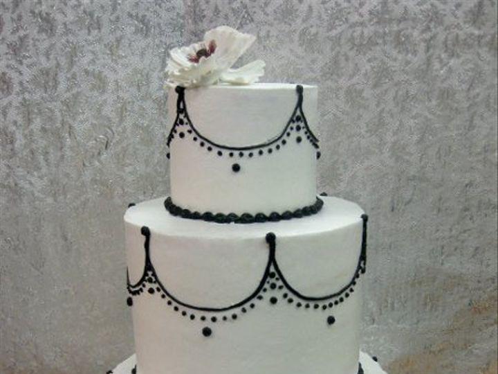 Tmx 1287700215029 Blackandwhitedesign Bronx wedding cake