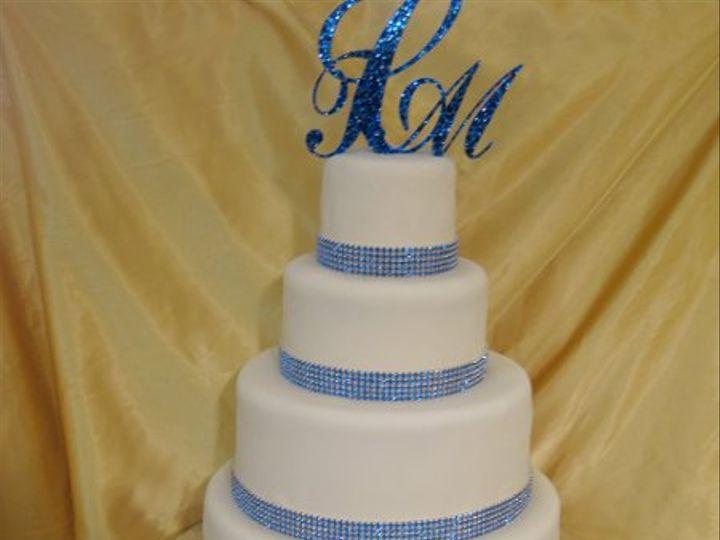 Tmx 1287700234248 Glitterybluewedding Bronx wedding cake